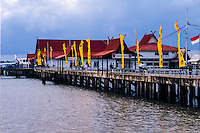 Riau Islands, Bintan. The ferry terminal in Tanjung Pinang, with regular departures to Singapore and Batam. Only about 2 hours to Singapore.