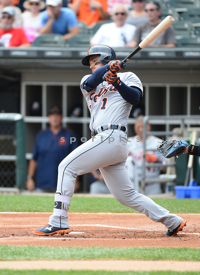 Detroit Tigers Jose Iglesias (1) during a game against the Chicago White Sox on July 24, 2016 at US Cellular Field in Chicago, IL. The White Sox beat the Tigers 5-4.