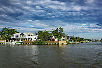 House sited on North Bay, Virginia Beach, Virginia, USA