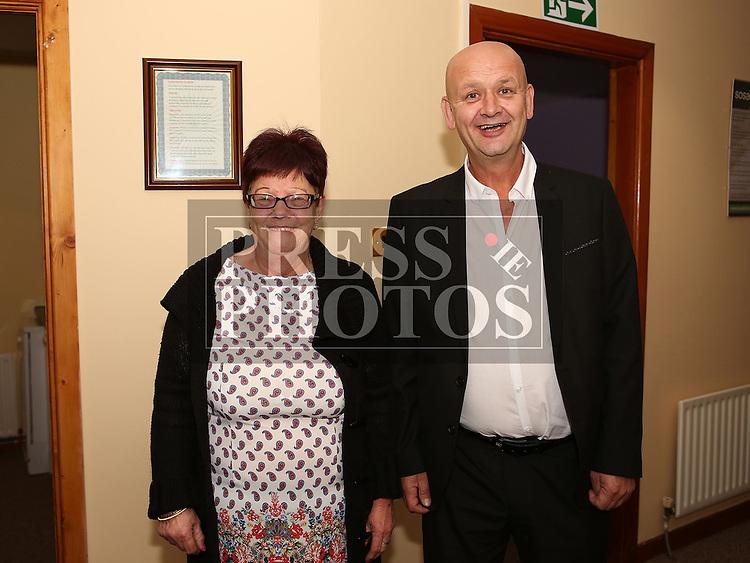 Bernadette Kevitt with Peter Moroney at the Launch of new SOSAD Initiative<br /> <br /> Photo - Jenny Matthews