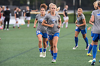Allston, MA - Wednesday Sept. 07, 2016: Brittany Ratcliffe, Angela Salem during a regular season National Women's Soccer League (NWSL) match between the Boston Breakers and the Western New York Flash at Jordan Field.