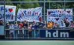 DEN HAAG -  spandoek   tijdens  de eerste Play out wedstrijd hoofdklasse heren ,  HDM-HCKZ (1-2). COPYRIGHT KOEN SUYK