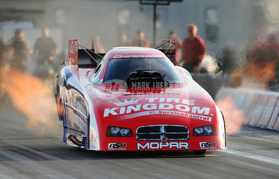 Jan. 17, 2012; Jupiter, FL, USA: NHRA funny car driver Johnny Gray during testing at the PRO Winter Warmup at Palm Beach International Raceway. Mandatory Credit: Mark J. Rebilas-