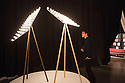 Space-Frame Floor Lamp by Marcel Wanders at a design exhibition organized by Moooi for Fuorisalone, Milan, April 2016.  Fuorisalone, is the contemporary design exhibitions that every year place side by side the Salone del mobile in Milan. &copy; Carlo Cerchiioli<br /> <br /> Space-Frame Floor Lamp di Marcel Wanders alla mostra organizzata da Moooi per Fuorisalone a Milano, aprile 2016. Fuorisalone &egrave; una serie di manifestazioni sul design contemporaneo che affiancano il Salone del mobile.