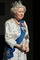 London, UK - 30 July 2020<br /> Madame Tussauds most popular figures 'queue' outside the attraction to celebrate the reopening to the public this Saturday 1st August of one of London's most notable tourist attractions. The Queen<br /> CAP/JOR<br /> ©JOR/Capital Pictures