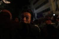 23 ottobre 2011 Tunisi, elezioni libere per l'Assemblea Costituente, le prime della Primavera araba: sostenitori del partito Enhada festeggiano in piazza la vittoria del proprio partito la sera in cui vengono annunciati i risultati.<br /> premieres elections libres en Tunisie octobre <br /> tunisian elections