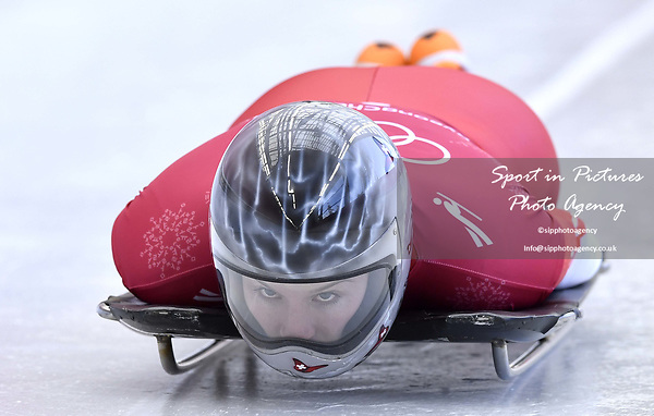Marina Gilardoni (SUI). Skeleton training. Alpensia sliding centrePyeongchang2018 winter Olympics. Alpensia. Republic of Korea. 13/02/2018. ~ MANDATORY CREDIT Garry Bowden/SIPPA - NO UNAUTHORISED USE - +44 7837 394578