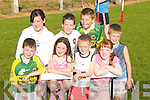 YOUNG: Young children who ran in the 100m race at the Ardfert Community Games on Thursday evening. Front l-r: Padraig O'Mahony, Orla Hussey, Daragh Lowth, Maeve Pierce and Shane Lowth. Back l-r: Laura and Fionan Horgan and Padraig Casey..
