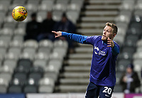 Preston North End's Jayden Stockley  <br /> <br /> Photographer Andrew Kearns/CameraSport<br /> <br /> The EFL Sky Bet Championship - Preston North End v Derby County - Friday 1st February 2019 - Deepdale Stadium - Preston<br /> <br /> World Copyright © 2019 CameraSport. All rights reserved. 43 Linden Ave. Countesthorpe. Leicester. England. LE8 5PG - Tel: +44 (0) 116 277 4147 - admin@camerasport.com - www.camerasport.com