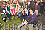 A time capsule was buried in the grounds of the Foilmore Community Centre on Sunday by local school principals Norah Golden(Foilmore N.S.) & Michael O'Sullivan(Coars N.S.).