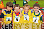 Waterville boys who took part in the Kerry community games athlethics finals at an Riocht, Castleisland on Saturday Tadgh Dennehy, Jack Curran, Dylan Huggard and Daniel O'Connell.