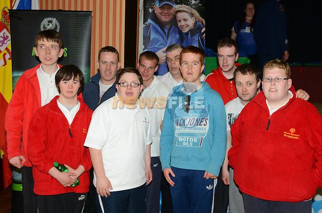 25/05/2013 - Special Olympics, Gormanston - Drogheda men's team: Ian McNamee, Liam McNamee, Edward Kennedy, Michael Butler, Sean Carolan. Front: Jason McGivern, Gary Bradley,, Ged Bird, Karl Rooney, Andy Gerrard. www.newsfile.ie