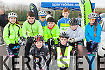 Young cycling entusiasts who participated in the Killarney Cycling club open day in Killarney on Saturday front  Tara Russell Kissane, Shane Galvin. Back l-r: Saidbh Murphy, Evan Kissane, David Fitzgerald, Dara Tangney, Kieran Coggins, Jaden Lane, Almha Russell Kissane