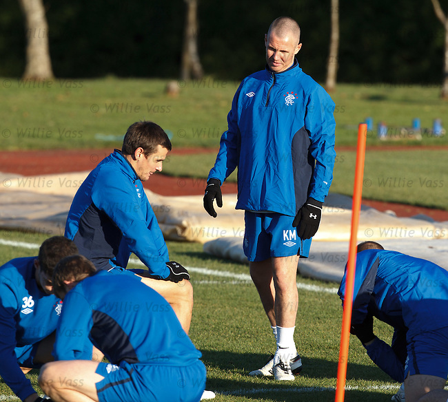 Kenny Miller with freshly shaved head