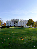 External view of the  North Portico of the White House in Washington, D.C. on Monday, November 14, 2011 looking across the North Lawn from the sidewalk on Pennsylvania Avenue..Credit: Ron Sachs / CNP