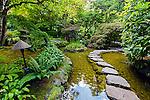 Japanese garden in Butchart Gardens, Victoria, Vancouver Island, Canada