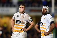 Joe Launchbury of Wasps looks on during a break in play. Heineken Champions Cup match, between Bath Rugby and Wasps on January 12, 2019 at the Recreation Ground in Bath, England. Photo by: Patrick Khachfe / Onside Images