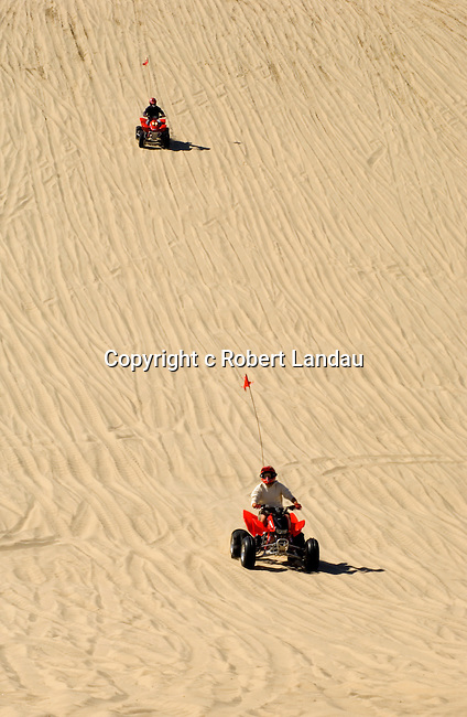 Dune buggy rider at park in Dunes City, OR