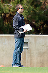 Los Angeles, CA 02-26-17 - LMU Coach Christopher Wells watches the action on the filed