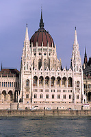 Danube River with Parliament in Budapest Hungary