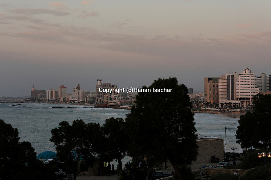 Israel, Tel Aviv-Yafo. A view of Tel Aviv as seen from Jaffa
