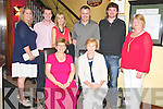 Mary D O'Leary, Millstreet, pictured with Mary, Norma, Timothy, Aoife, Seamus, Andrew and Breda O'Connell as she celebrated her 50th birthday in Lord Kenmares restaurant, Killarney on Saturday night.................................Christy O'Mahony, captain Beaufort Golf club and Irene McCarthy, Lady Captain Beaufort Golf Club pictured with James Lucey and Sheila McCarthy, who were the winners in their Captain Prize Competition at the course on Sunday. Also pictured are Frank Coffey, President, Sean Coffey, vice captain, Teresa Clifford, Margaret Guerin, Josephine O'Shea, Gretta Hurley, Renee Clifford, Peggy O'Riordan, Maureen Rooney, Mary Barrett, Robin Suter, Gearoid Keating, Jim Hurley, Gabhan O'Loughlin, Rory Browne, Mike Quirke, Matt Templeman and Simon Rainsford...Picture: Ger Cronin LMPA (087) 0522010....PR SHOT..NO REPRODUCTION FEE.............................................................................................................................................................................................................................................