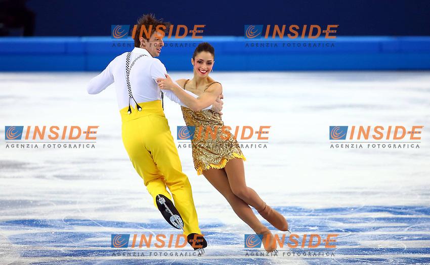 SOCHI, Feb. 6/2/2014 -- Stefania Berton (R) and Ondrej Hotarek of Italy perform during the Team Short Program Pairs of Figure Skating at the Sochi 2014 Winter Olympic Games in Sochi, Russia, Feb. 6, 2014. Insidefoto/Gong Bing