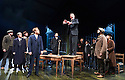 An Enemy of The People by Henrik Ibsen, a new version by Christopher Hampton directed by Howard Davies. With Hugh Bonneville as Dr Tomas Stockmann [standing on table][. Opens at Chichester Festival Theatre on 4/5/16 CREDIT Geraint Lewis