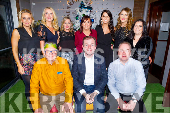 Teachers from CBS the Green enjoying their Christmas party in Benners Hotel on Friday.<br /> Front l to r: JJ O'Brien, Fionnan Fitzgerald and John Culloty.<br /> Back l to r: Charlotte Devane, Karen Tobin, Caroline Dillane, Denise O'Sullivan, Caroline Dowling, Rebecca Tobin and Eimear O'Daly.