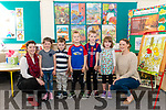 First day of school for junior infants l-r Mila Riney Scannell, Righan Kelleher, Cathal O'Sullivan, Eoghan O'Sullivan and Rose O'Donoghue at the Cahir NS last Monday pictured with class teachers Caline lynch (left) and SNA Theresa O'Shea (right) .
