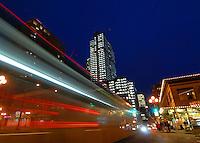 Seattle bus traffic.