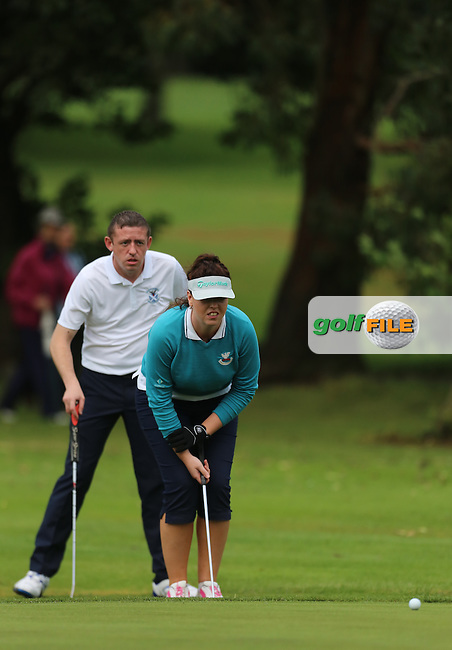 Patrick McCrossan and Lauren Patton (Strabane) during the Ulster Mixed Foursomes Final, Shandon Park Golf Club, Belfast. 19/08/2016<br /> <br /> Picture Jenny Matthews / Golffile.ie<br /> <br /> All photo usage must carry mandatory copyright credit (© Golffile | Jenny Matthews)