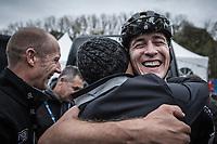 Super happy race winner Toon Aerts (BEL/Telenet Fidea Lions)<br /> <br /> Koppenbergcross Belgium 2018