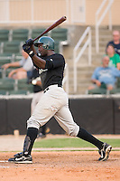 B.J. Hubbert (31) of the Savannah Sand Gnats follows through on his swing at Fieldcrest Cannon Stadium in Kannapolis, NC, Sunday July 20, 2008. (Photo by Brian Westerholt / Four Seam Images)