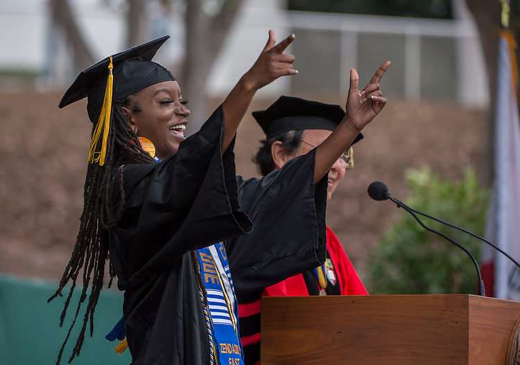 UCSB commencement 2019, Sunday ceremonies  Zenzile Riddick