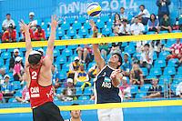 Nanjing 2014 Volei Playa Argentina vs Canada