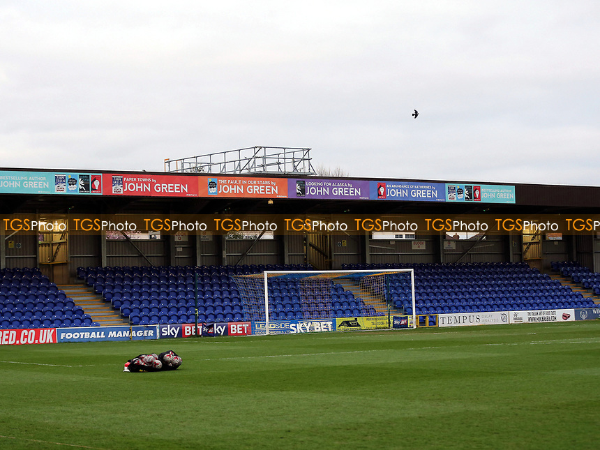 General view of the AFC Wimbledon ground during AFC Wimbledon vs MK Dons, Sky Bet EFL League 1 Football at the Cherry Red Records Stadium on 14th March 2017