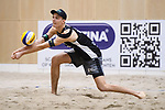 04.01.2019, Den Haag, Sportcampus Zuiderpark<br />Beachvolleyball, FIVB World Tour, 2019 DELA Beach Open<br /><br />Annahme Julius Thole (#1)<br /><br />  Foto © nordphoto / Kurth