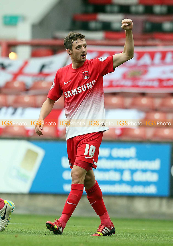 O's David Mooney ccelebrtaes<br /> - Leyton Orient vs Walsall - SkyBet League One Football Match at the Matchroom Stadium, Brisbane Road, Leyton, London - 28/09/13 - MANDATORY CREDIT:Simon O&quot;Connor/TGSPHOTO - Self billing applies where appropriate - 0845 094 6026 - contact@tgsphoto.co.uk - NO UNPAID USE