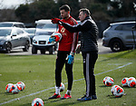Michael Verrips of Sheffield Utd and coach Darren Ward  during a training session at the Steelphalt Academy, Sheffield. Picture date: 5th March 2020. Picture credit should read: Simon Bellis/Sportimage