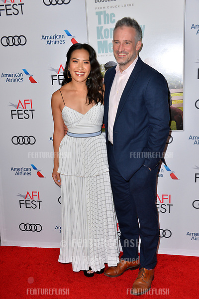 """LOS ANGELES, CA. November 10, 2018: Melissa Tang & Guest at the AFI Fest 2018 world premiere of """"The Kominsky Method"""" at the TCL Chinese Theatre.<br /> Picture: Paul Smith/Featureflash"""