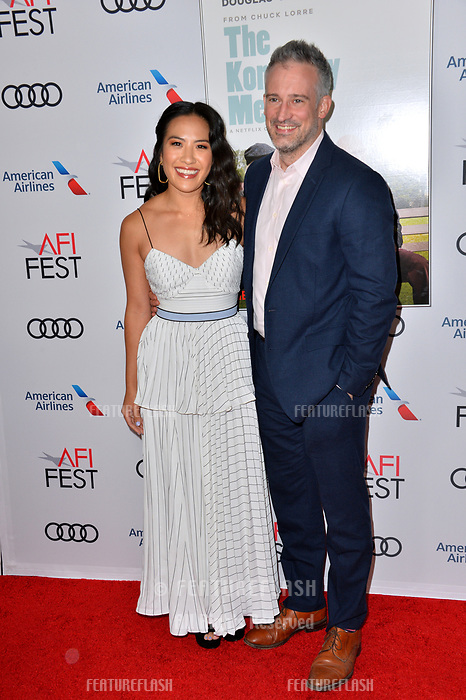 "LOS ANGELES, CA. November 10, 2018: Melissa Tang & Guest at the AFI Fest 2018 world premiere of ""The Kominsky Method"" at the TCL Chinese Theatre.<br /> Picture: Paul Smith/Featureflash"