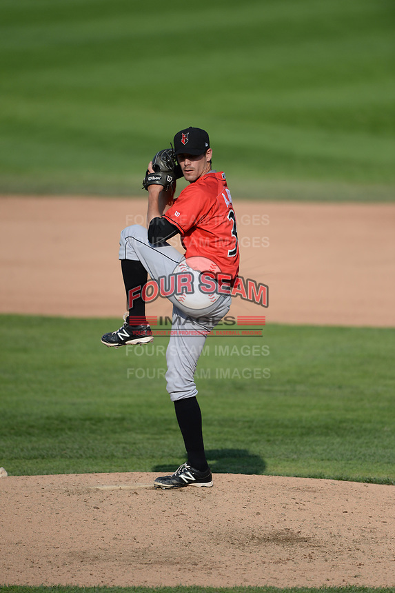 Indianapolis Indians pitcher A.J. Morris (30) during a game against the Rochester Red Wings on June 10, 2015 at Frontier Field in Rochester, New York.  Indianapolis defeated Rochester 5-3.  (Mike Janes/Four Seam Images)