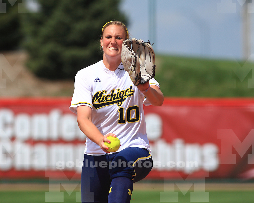 The University of Michigan softball team beat Ohio State, 3-2, in the Big Ten Tournament quarterfinals at Bowlin Stadium in Lincoln, Neb. on May 10, 2013.
