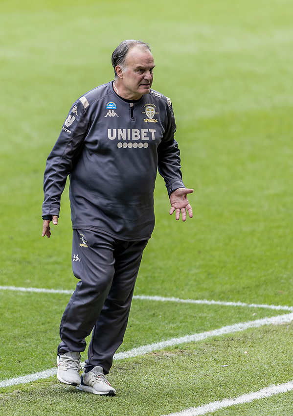 Leeds United's manager Marcelo Bielsa <br /> <br /> Photographer Andrew Kearns/CameraSport<br /> <br /> The EFL Sky Bet Championship - Swansea City v Leeds United - Sunday 12th July 2020 - Liberty Stadium - Swansea<br /> <br /> World Copyright © 2020 CameraSport. All rights reserved. 43 Linden Ave. Countesthorpe. Leicester. England. LE8 5PG - Tel: +44 (0) 116 277 4147 - admin@camerasport.com - www.camerasport.com