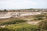 Working stone quarry, Easton, Isle of Portland, Dorset, England, UK