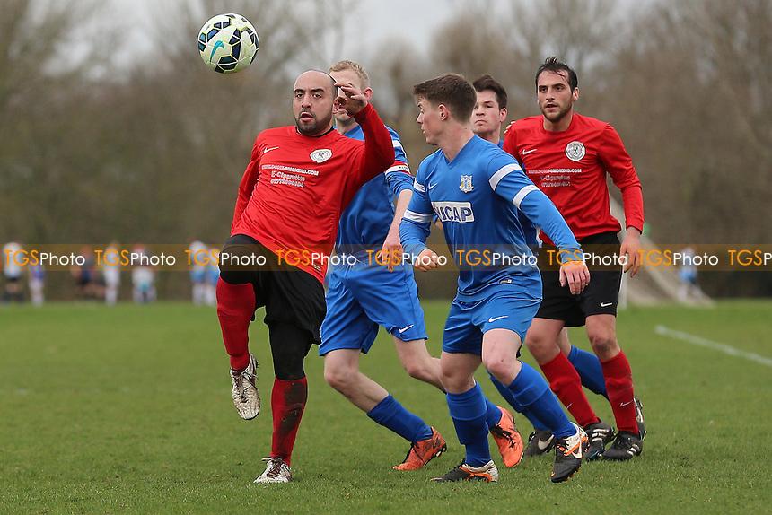 Wenlock Arms (red) vs Gladstone Wanderers, Hackney & Leyton Sunday League Jack Morgan Cup Semi-Final Football at Hackney Marshes on 26th February 2017