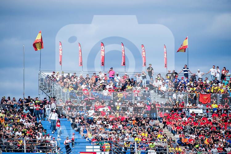 VALENCIA, SPAIN - NOVEMBER 11: Moto GP fans during Valencia MotoGP 2016 at Ricardo Tormo Circuit on November 11, 2016 in Valencia, Spain