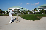 DORAL, FL. - Nick Watney 's second shot from the bunker on hole 12 during final round play at the 2009 World Golf Championships CA Championship at Doral Golf Resort and Spa in Doral, FL. on March 15, 2009