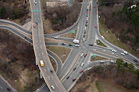 aerial, Mass Pike at Rt. 128, Weston, MA